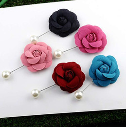 hat free Australia - Cloth Flower Brooch Men Women vintage Brooch Full CZ Jewelry designer broche Coat Dress Scarf Hat Pins Top Quality Free Shipping