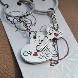 "puzzle best Australia - 2 Pcs Puzzle Letter ""You're My Person"" Couple Keychain Lovers BBF Cute Key Ring Holder Love Heart Best Friends Gift Dropshipping"