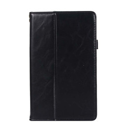 Genuine Leather China Australia - Classic Half Genuine Leather Tablet Case For Huawei M5 8.4 Shockproof PU Leather Folding Stand protective shell Case