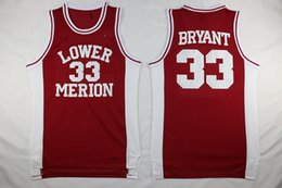 $enCountryForm.capitalKeyWord Australia - Mens Vintage 33 Kobe Bryant Lower Merion High School Basketball Jerseys Cheap Kobe Bryant Stitched Shirts Red Black White Free Shipping