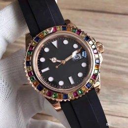 $enCountryForm.capitalKeyWord Australia - 2018 rubber rose gold top 116655-oysterflex wrist band brand watch master 40mm automatic movement 3A quality luxury watch drill ring