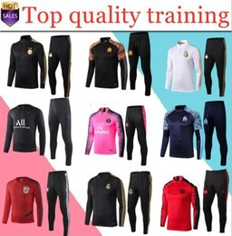 Boys tracksuits sets online shopping - kids tracksuit Paris AJ child Jordam set Survetement boy MBAPPE Paris maillot de foot football training suit