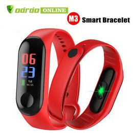 $enCountryForm.capitalKeyWord Australia - M3 Smart Bracelet Fitness Tracker Heart Rate Watch Wristband Blood Pressure for iPhone Android Cellphones PK XIAOMI MI BAND 3 in Box