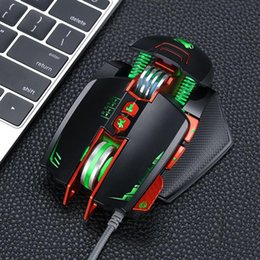 Discount strong computers - Durable Strong USB Wired Gaming Mouse For Computer 1.5m 8 Buttons Games Four-way Wheel 5000000 times