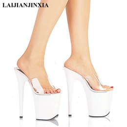 $enCountryForm.capitalKeyWord Australia - LAIJIANJINXIA New 20 CM High Heels Slippers Club Night Sexy Pole Dancing Shoes Platform Women Shoes Thin Heels Super High