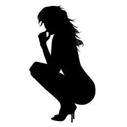 $enCountryForm.capitalKeyWord NZ - Sexy Girl Nude Lady Squatting Vinyl Decal Sticker Car Bumper Door Truck Window Fuel Tank Cap Laptop Kayak Cars Styling Wall