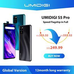 Wholesale UMIDIGI S5 Pro Smartphone Helio G90T Gaming Processor 6GB 256GB FHD+ AMOLED In-screen Fingerprint Pop-up Selfie Camera 5G Wifi