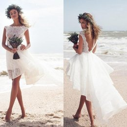 924793b72a69 Sexy high Slit SkirtS online shopping - Beach Short Wedding Dresses Sexy  High Low Sexy Backless