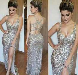 Holiday Evening Gowns Floor Length Australia - Sexy V Neck Spaghetti Straps Prom Dresses Mermaid Floor Length Red Carpet Holidays Graduation Wear Evening Party Gowns Custom Made Plus Size
