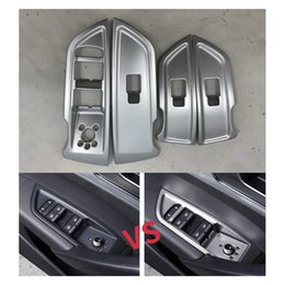 $enCountryForm.capitalKeyWord Australia - ABS Chrome Car Interior Door Window Lift Glass Switch Buttons Cover Trim For Audi Q5L 2018