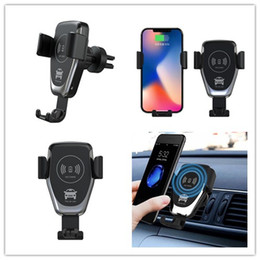 Wholesale Wireless Car Charger W Fast Wireless Charger Car Mount Air Vent Phone Holder Compatible for iphone samsung LG All Qi Devices XS Max