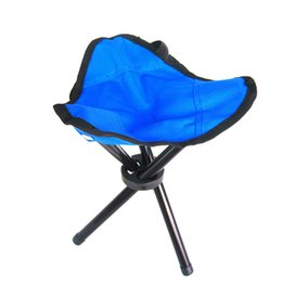 Wholesale Stools Chairs Australia - High Quality Folding Fishing Chair Outdoor Portable Small Size Triangle Stool Practical Waterproof Fishing Chairs Strong Oxford Beach Stools