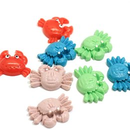 rainbow products wholesale NZ - New Products Rainbow Ocean Crab Cabochon Resin Kawaii Slime Charms Hair Bow Center Flat Back Resin Planar