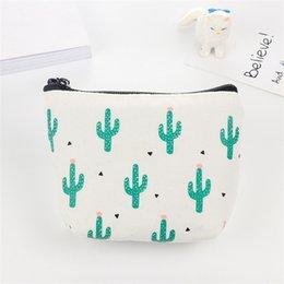 Small Zipper Purses Australia - coin purse Women wallets Cactus printing Fashion mini bag Leather Zipper small purses wallets Clutch Purse Girl small bags *0.35