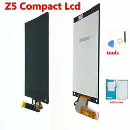 sony xperia screen repair Australia - black white For Sony Xperia Z5 Compact mini E5803 E5823 LCD Display Touch Screen Digitizer Assembly Repair Parts+glue+tools Ypf27-160