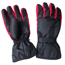 ElEctric warming glovEs online shopping - Men Women Electric Heated Gloves Battery Powered Waterproof Thermal Motorcycle Snow Ski Riding Sport Mitterns Winter Warmer PXPF