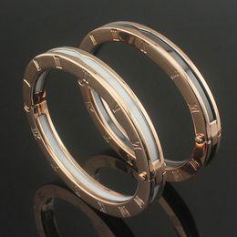 $enCountryForm.capitalKeyWord Australia - High-quality branded jewelry ceramic bracelets for women Roman numbered black and white ceramic bracelets rose Gold-gold