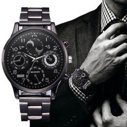 $enCountryForm.capitalKeyWord Australia - Fashion Men's Watch Luxury Stainless Steel Band Alloy Dial Analog Quartz Wrist Watches Men Dress Watches reloj hombre