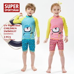 $enCountryForm.capitalKeyWord Australia - Boys Girls Cartoon Swinsuit Baby Rashguard Kids Surfing Swimwear Children Anti-UV Swim Suit Toddler Swimming Surf Beach Set
