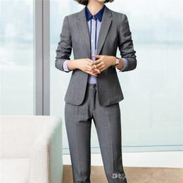 $enCountryForm.capitalKeyWord NZ - New fashion pants suits set women Business slim long sleeve blazer with pants office ladies plus size Interview work wear 6011