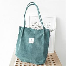 Designer Canvas Solid Shoulder Bag Top-Handle Corduroy College Style  All-match Crossbody Tote Bags Casual For Women Girl Hand Bag Handbag 8af3abd501b7c