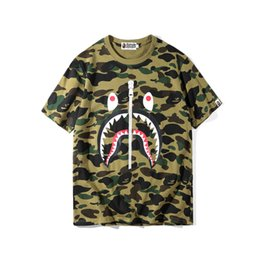 flash trades 2019 - foreign trade street fashion camouflage cartoon men's casual round neck loose short-sleeved T-shirt mens designer t