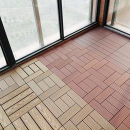 Grossista goffratura fai da te incastro WPC outdoor decking mattonelle 30x30 in Offerta