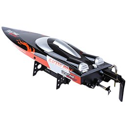 electric remote control airplanes 2019 - FeiLun FT010 2.4G RC Racing Boat 35km h with Built-in Cooling System Righting Function Remote Control RC Boat Mode cheap
