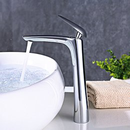 Painting Faucets White Australia - Tall Style Matte Black Brass Washbasin Faucet Bathroom Sink Water Mixer Hot And Cold Water Tap Chrome Plated White Painted