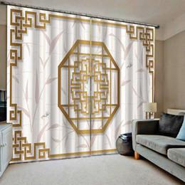Vente en gros rideaux chinois 3D fenêtre rideau Chambre Tentures CORTINA taille sur mesure