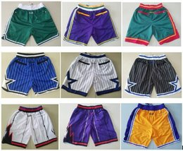 Elastic balls online shopping - Best Quality New Shorts Team Pants Vintage Baseketball Shorts Zipper Pocket Running Shorts Sports pants Multi Ball Pants Breathable