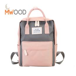 $enCountryForm.capitalKeyWord UK - Moon Wood New Candy Color Simple Travel Backpacks Fashion Preppy Panelled Tote Bags Girls Leisure Sweet School Shoulder Bagpack