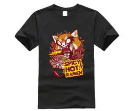 $enCountryForm.capitalKeyWord Australia - Aggretsuko Spicy Comfort Food Men's T Shirt Cartoon Print Short Sleeve T Shirt Free Shipping