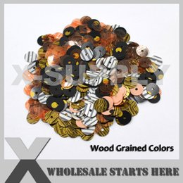 Evening Nails Australia - (Wood Grained Colors) Round Cup Loose Sequin Paillettes for Evening Dress,Costume,Nail Art (Contact Us For More Color)