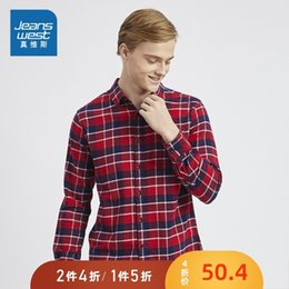 men wearing satin shirts Australia - Really Weiss Long Sleeve Shirt Men's Wear Man Flannel Checkered Jacket Pure Cotton Leisure Time Trend Thin Section Shirt