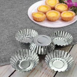Ingrosso Torta dell'uovo muffa di figura antiaderente Ripple fiore della lega di alluminio riutilizzabile Cupcake e focaccina stampo Coppa Tartlets Pans