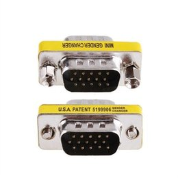 svga adapter NZ - Ti-mesh TI-M-M 15 Pin Hd Mesh Svga Kvm Vga DB15 Mini Gender Changer Adapter Ship from Turkey HB-000453345