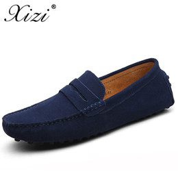 Wholesale Xizi Summer Men Casual Shoes Fashion Men Sneakers Loafers Genuine Leather Shoes Slip on Men s Flats Driving Boat Big Size