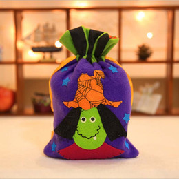 gift cloth tote bags wholesale Canada - 1Pc Halloween Candy Bags Pumpkin Gift Bag Tote Non-woven Witch Balck Cat Bag Handbag For Kids New Year Party Home Decor