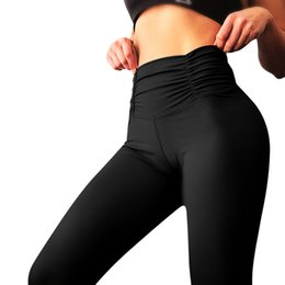 Tracking Workouts Australia - Women's Black Solid Sexy Hip Workout Leggings Fitness sports trousers flexible track Gym Running Athletic Pants Sweatpants