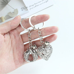 Tin car ornamenT online shopping - 2019 Creative key ring bell small pendant car love blessing bag hollow bag hanging ornaments men and women key chain gift
