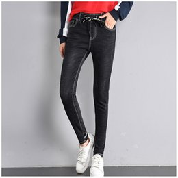 joker jeans pant Australia - Spring Women's Clothes Korea Elastic Slim Retro Nostalgic Street Fan Joker Denim Casual Pants Black Tight Elastic Strap Jeans