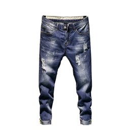 $enCountryForm.capitalKeyWord UK - New men's jeans washed Harlan jeans trend design casual hole denim pants men's brand stretch cotton joggers pants #360284