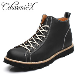 Discount formal working shoes - CcharmiX Men Formal Ankle Boots Leather Safety Work Shoes Mens New Fashion Waterproof Rubber Boots Autumn Working Men