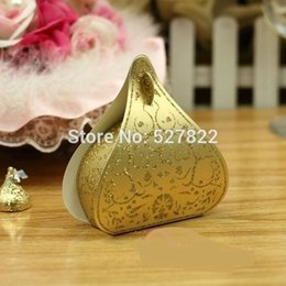 $enCountryForm.capitalKeyWord NZ - 100pcs European Romantic Gold Peach Heart Wedding Candy Boxes Wedding Favours Box Gift Boxes Free Shipping J190706