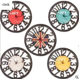 Discount silent vintage wall clock - Wooden Retro Quartz Clock Living Room Wall Clocks Creative Silent Clock Home Restaurant Decorative Vintage Clocks