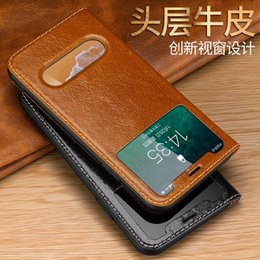 $enCountryForm.capitalKeyWord Australia - Cyboris Genuine Leather Case For Iphone 6   6s 7   8 X 6 6s Plus 7   8 Plus Luxury Vintage View Window Flip Cover With Magnet J190701