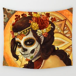 $enCountryForm.capitalKeyWord NZ - Skull Tapestries hanging cloth digital printing tapestry fresco curtain ghosts living room background wall Tropical scarf outdoor