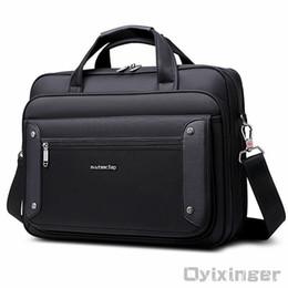 Laptop Travelling Bag Australia - Large Capacity Business Handbag Men Briefcase Bag Laptops Computer Bag Mens Shoulder Office Bags For Man Big Travel Bolso Hombre