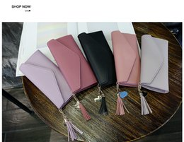 new long hand bags 2019 - Spring and summer new long hand-cranked heart-shaped pendant simple fashion multi-functional lychee women's wallet